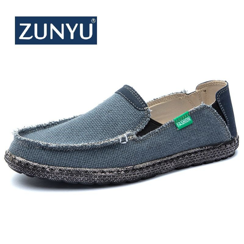 Lightweight Canvas + EVA & Breathable Loafer Shoes with Sweat-Absorbant