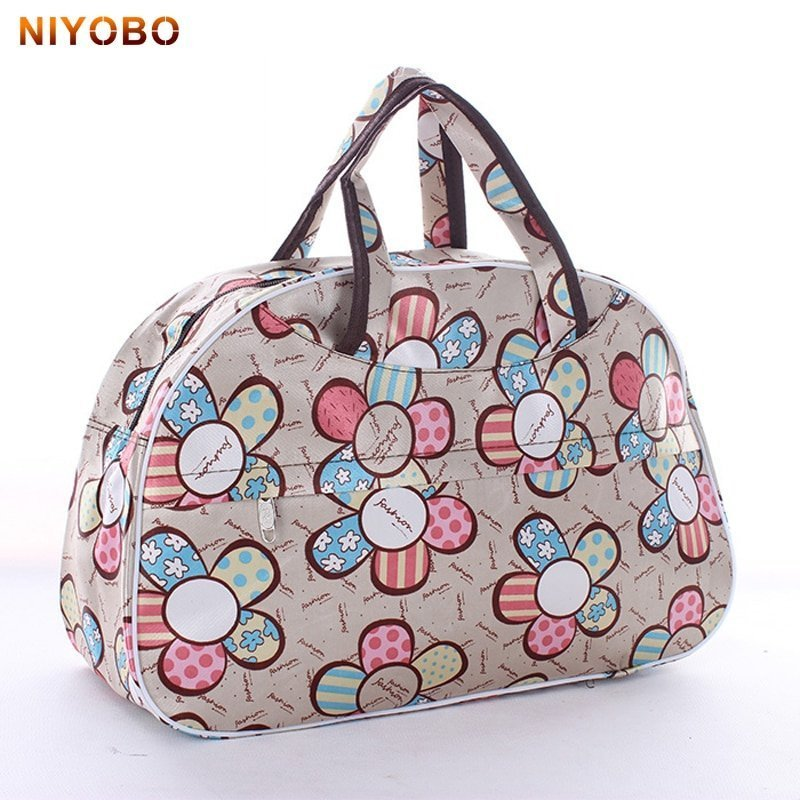 Casual Oxford + Polyester zipper & Soft Travel Luggage Bag with Prints