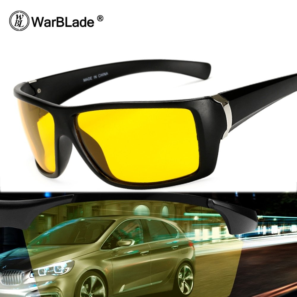 Yellow Color Polaroid Lenses & Alloy Frames Night Vision Glasses with UV Protection