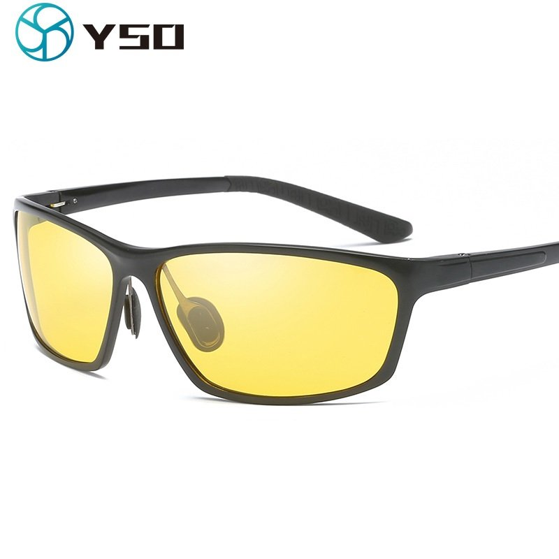 Yellow Color Lens Night Vision Glasses with Aluminium Magnesium Frame