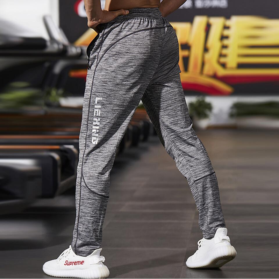 New Fashion Thin Grey Color & Polyester Sweatpants with Mid Waist