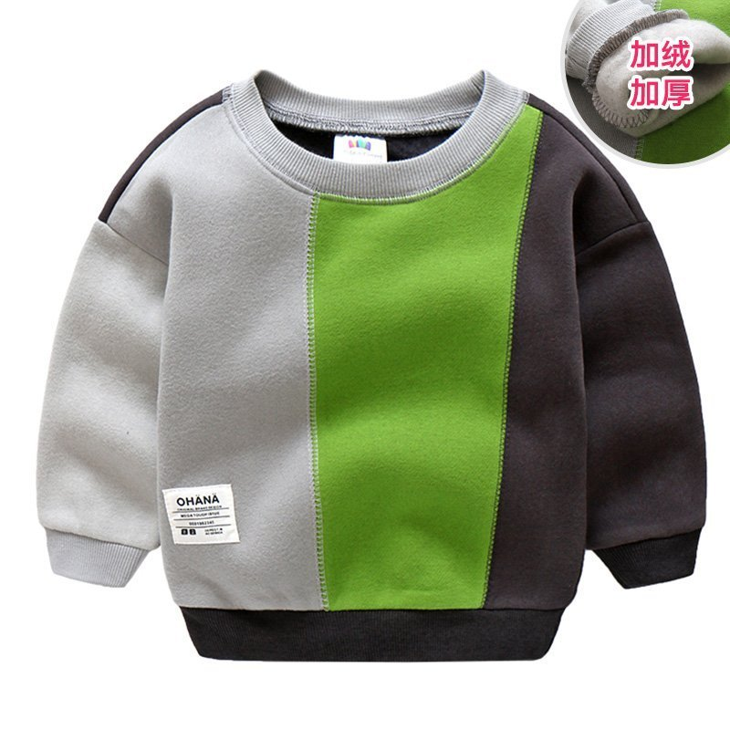 Colorful Cotton + Polyester Round Neck & Long Sleeve Sweatshirts Pullover