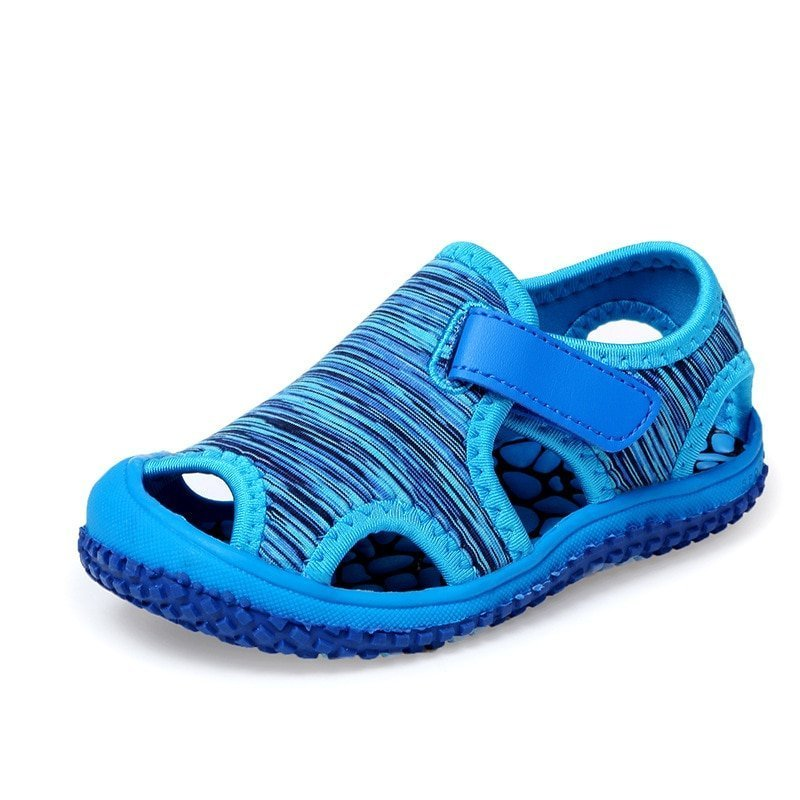 Breathable Air mesh + Cotton Lining & Hook-Loops Sandals with Non-Slip