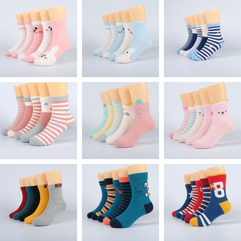 Thick Warm Cotton + Microfiber Soft & Breathable Socks for 0-8 Years Children