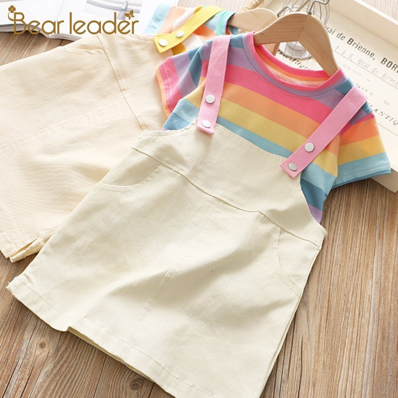 Sleeveless Cotton + Acetate & 2Pcs Tops+Short Clothing Sets for Kids