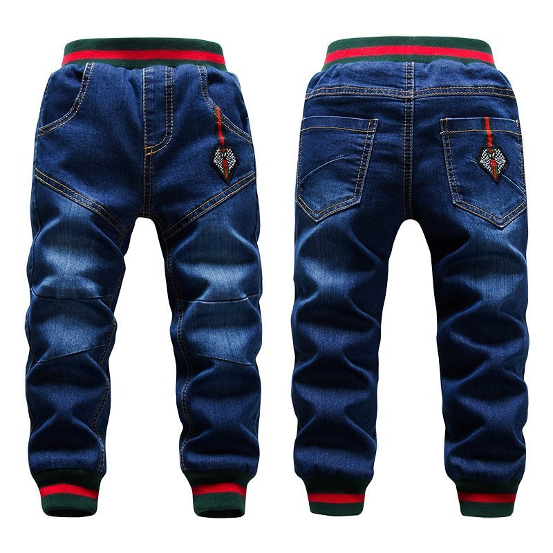 Thick Wool Elastic Waist & Regular Fit Children Jeans for 2-14 years Boys