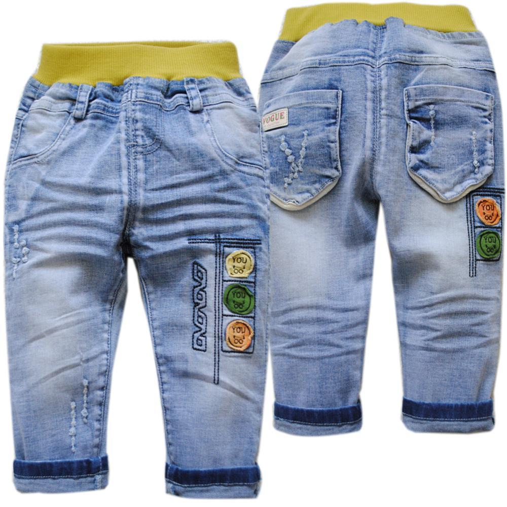 Stylish High Waist Straight Fit & Soft Children Denim Jeans with Multi-Pockets