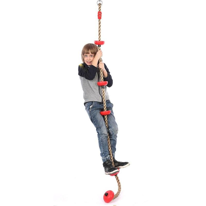 Funny Climbing Rope Swing Disc Games Equipment Toys with 2 Colors