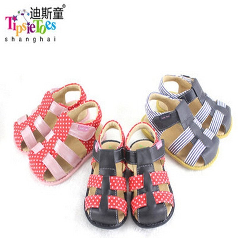 Mixed-Color Soft Leather + Cotton Lining & Cross-Strap Sandals with Flat Heel