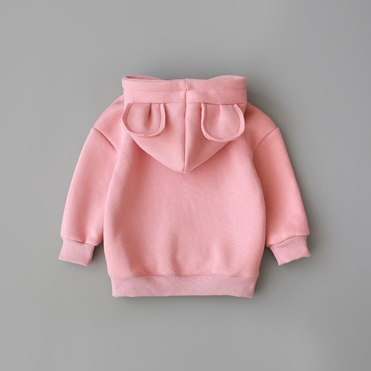 Fleece Thick Cotton Softening & Long Sleeve Hoodies with Solid Color