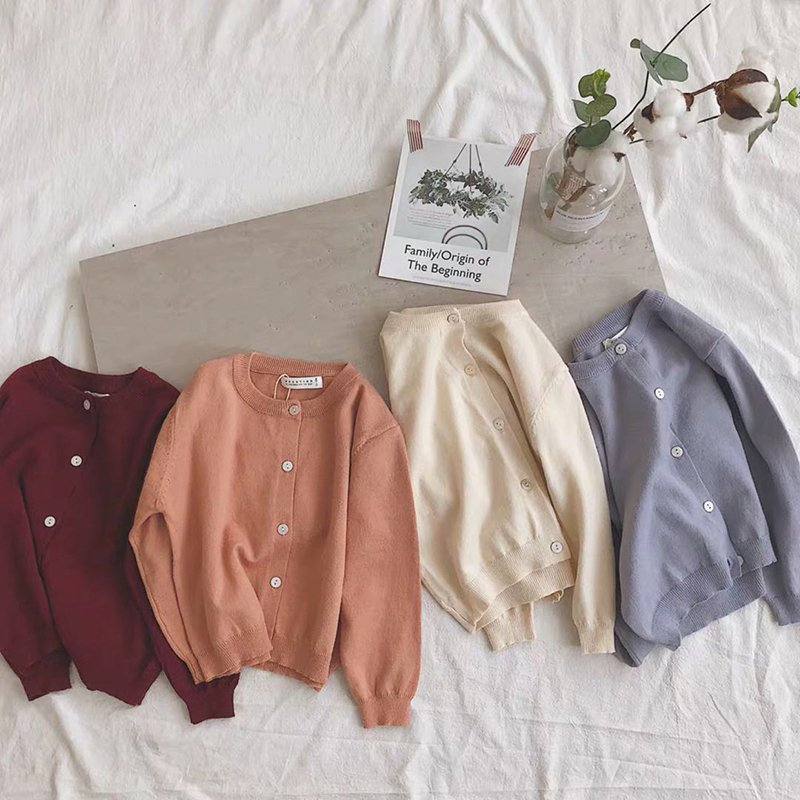 Multi-Color Single Breasted Cotton & Full Sleeve Cotton Sweaters with Button