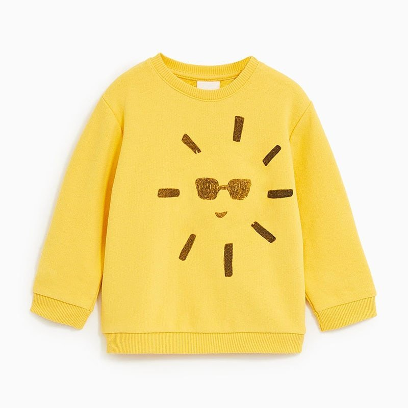 Printed pattern Round Neck Cotton & Full Sleeve Sweatshirts for Boys