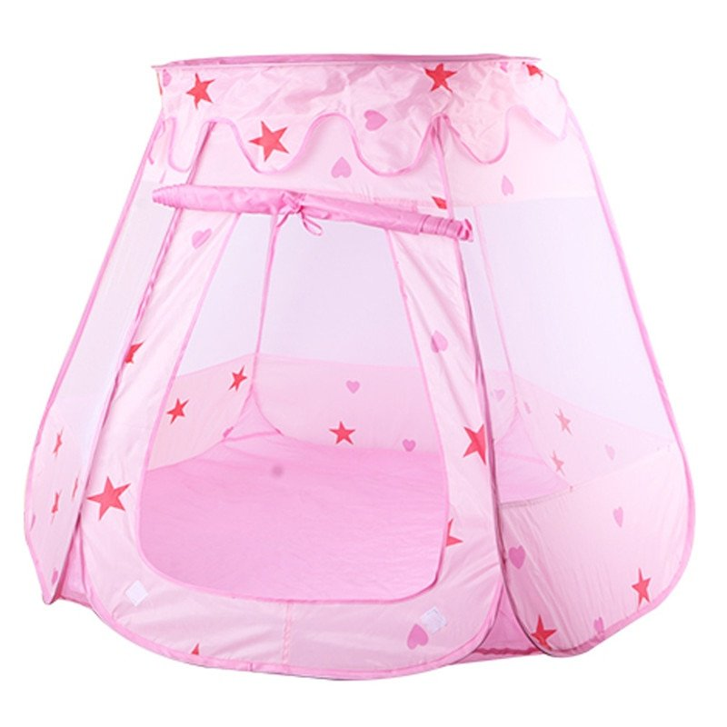 2 Colors Star Pattern Polyster Foldable Cute Fairy Tent Toys for Play