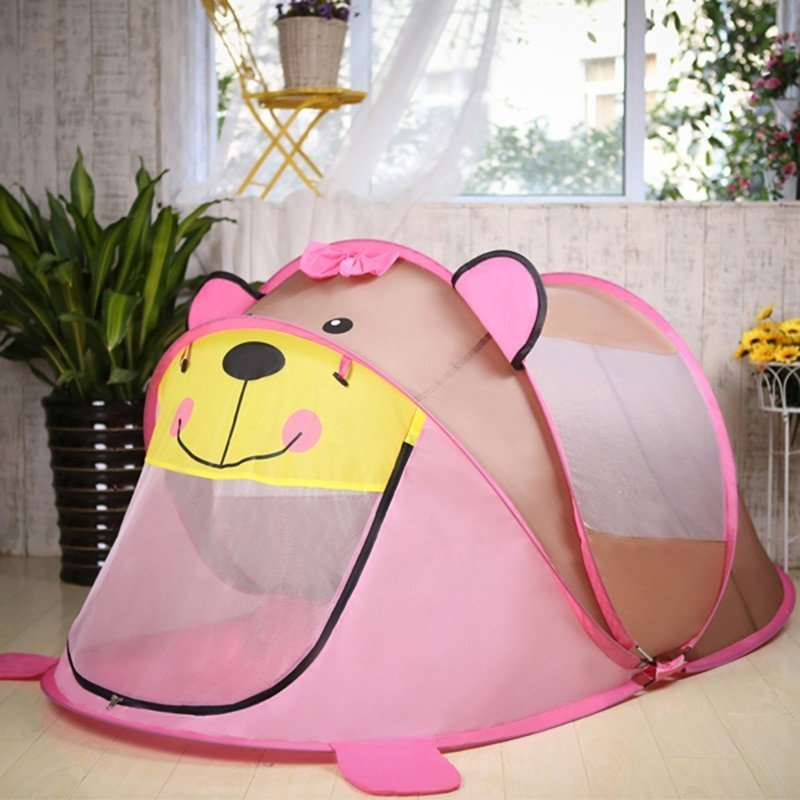 Polyester + Strong Mesh Foldable Tent Toys with zipper Mesh Door