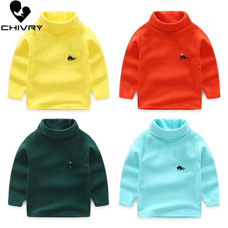 Candy Color Cotton Turtleneck & Full Sleeve Boy Sweaters with Stretchable