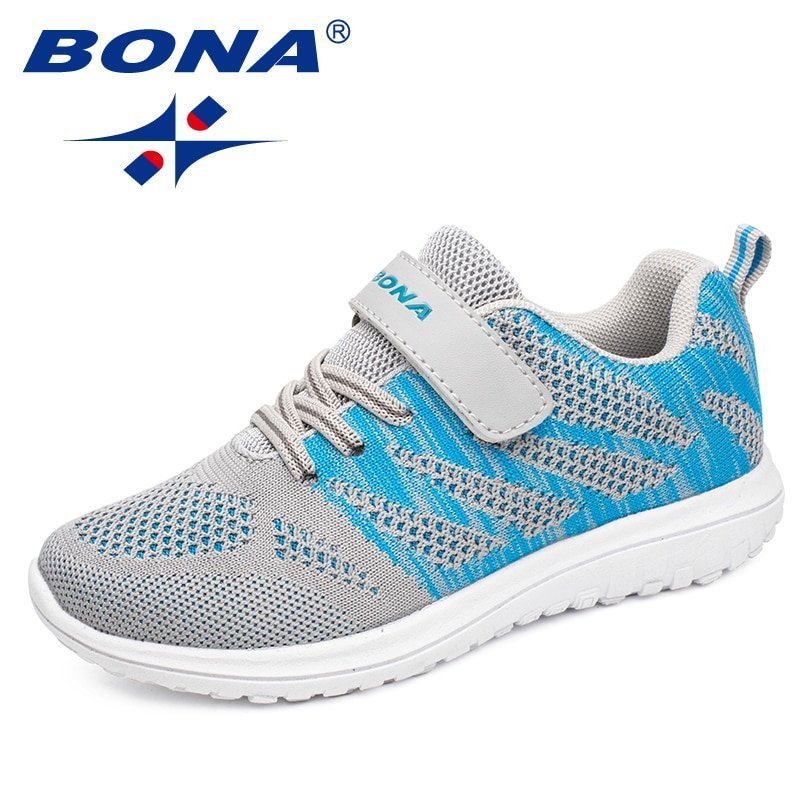 Flat Heel Air mesh + Cotton Lining & Breathable Sneakers with Hook-Loops