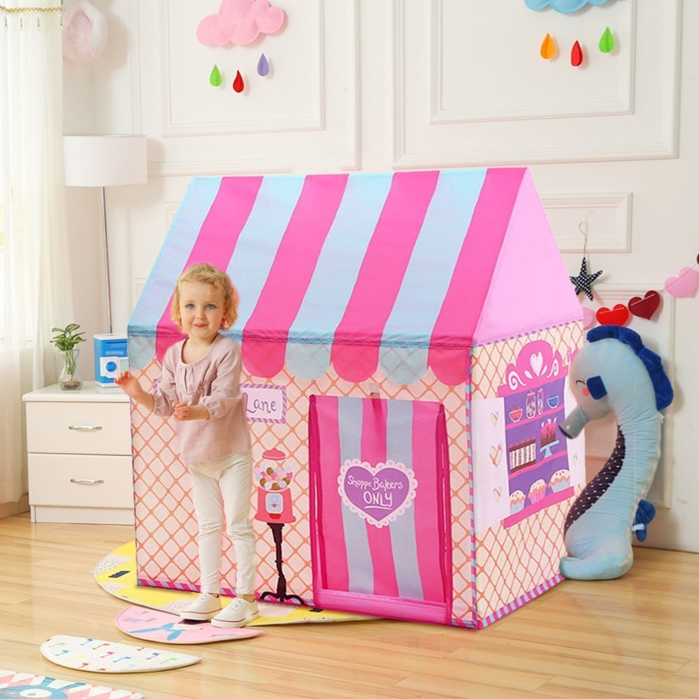 Indoor Outdoor Princess Castle Playhouse Tents Toys with Foldable