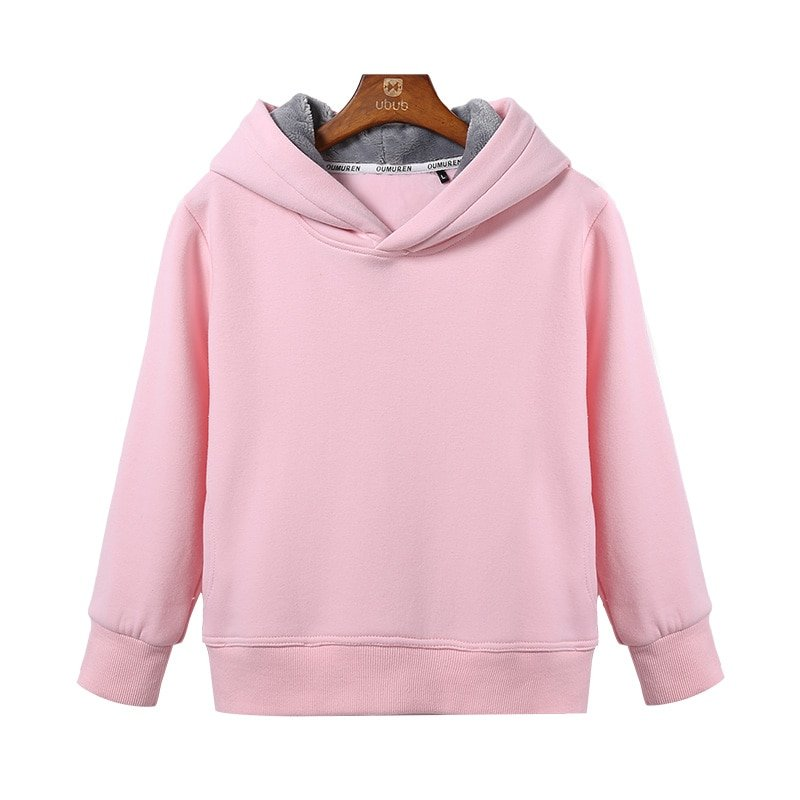 Candy Color Cotton + Polyester Full Sleeve & Soft Hoodies for 2-10 Years Children