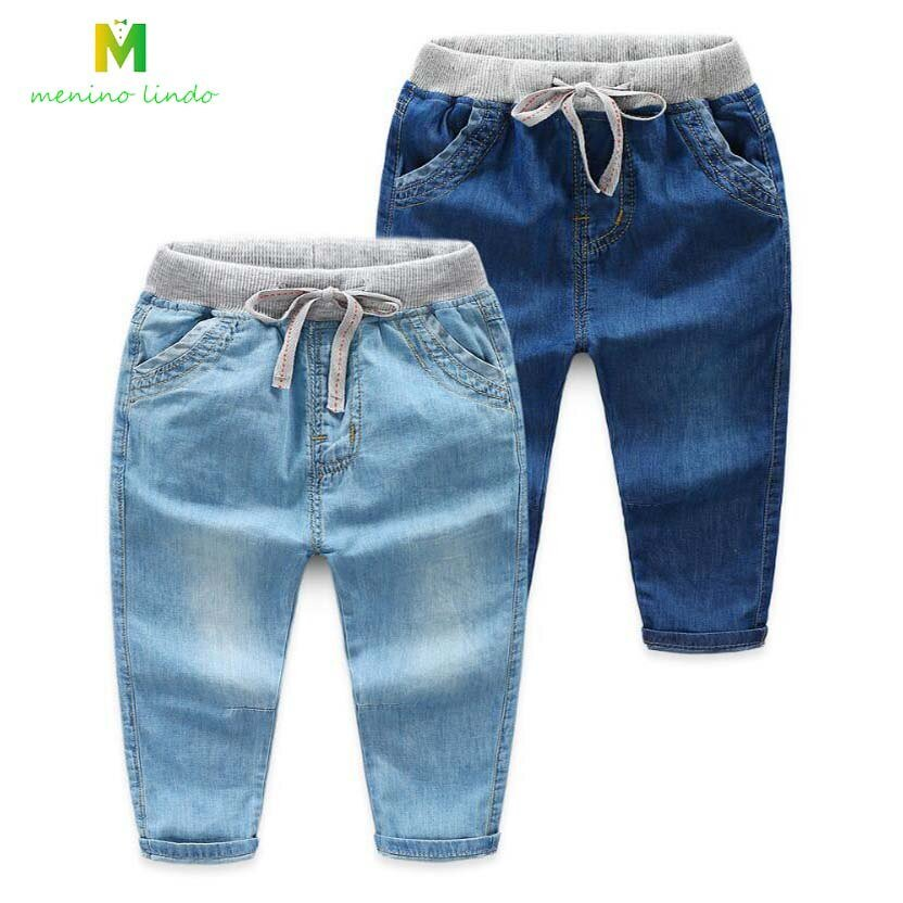 New Casual Straight Fit Thick & Comfortable Children Jeans with Mid Waist