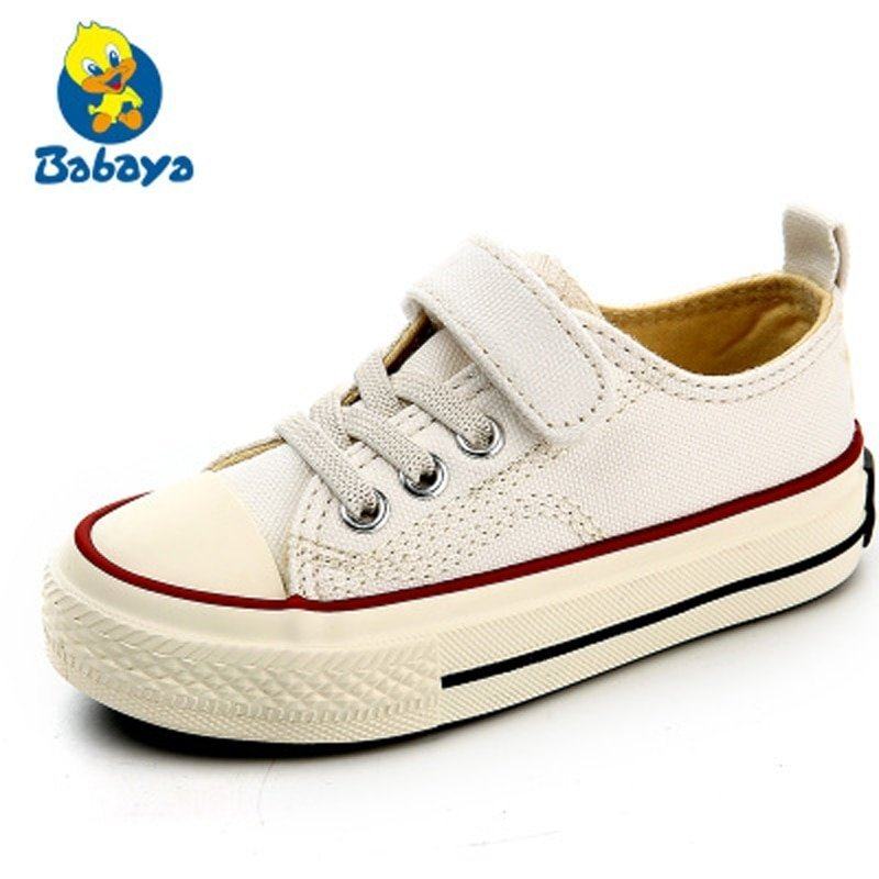 Multi-Color Cotton + Canvas Breathable & Anti-Slip Sneakers with Lace-up