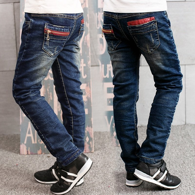Regular Fit Elastic Waist & Breathable Denim Jeans for Children