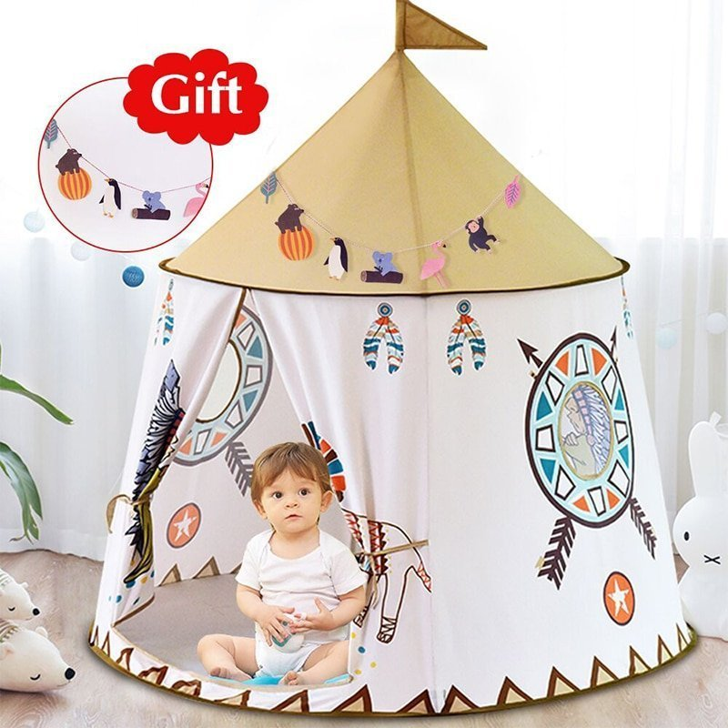123*116cm Portable Princess Castle Play Tents Toy with Polyester cloth