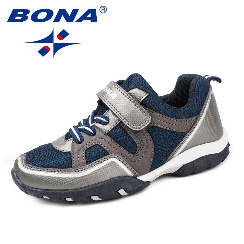 Anti Slip Synthetic + Cotton Lining & Breathable Sneakers with Hook-Loops