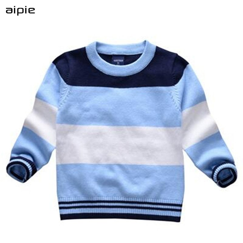 Colorful Striped Pattern Cotton Soft & Comfortable Sweaters for Children