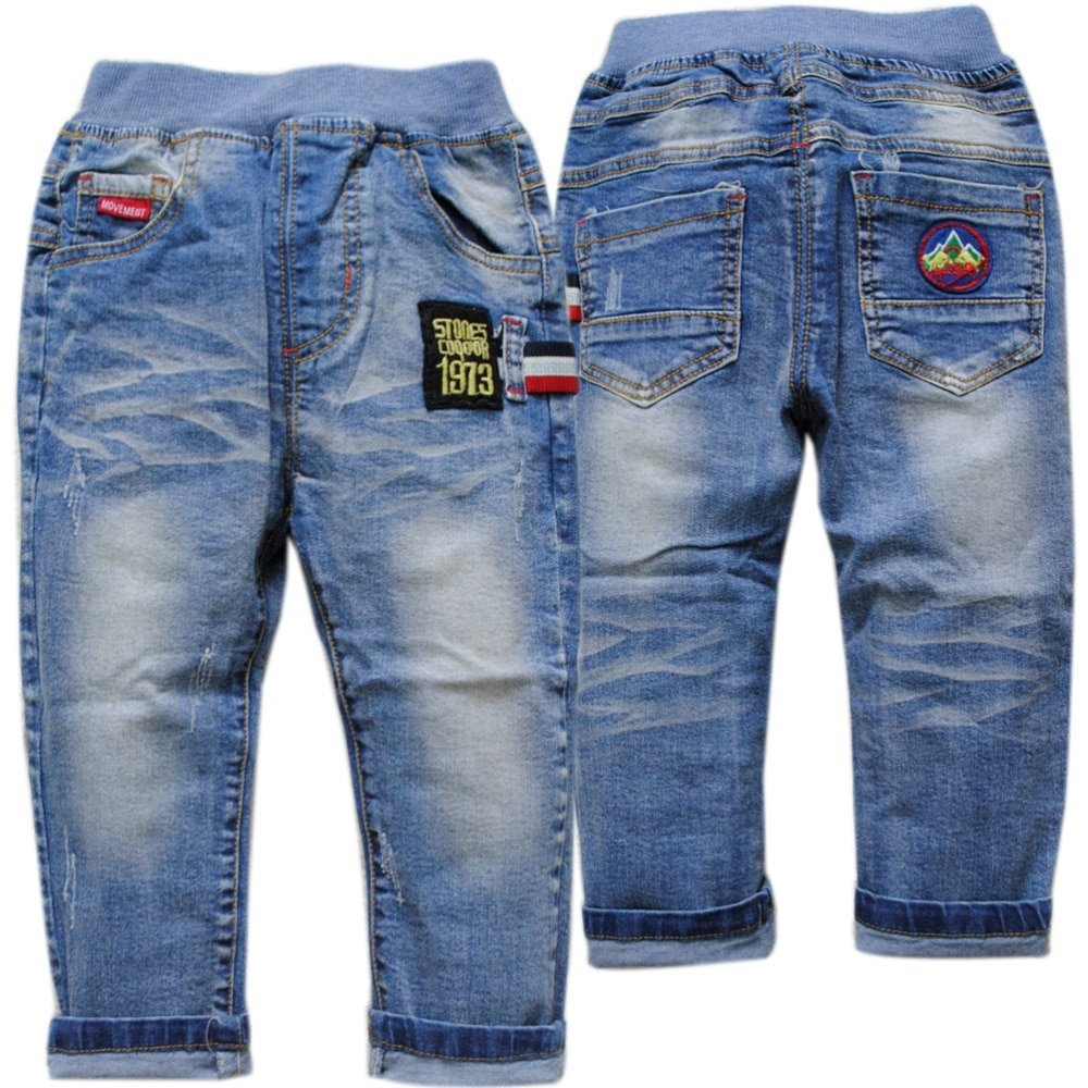 New Fashion Elastic Waist & Stretchable Children Jeans Pant for Boys
