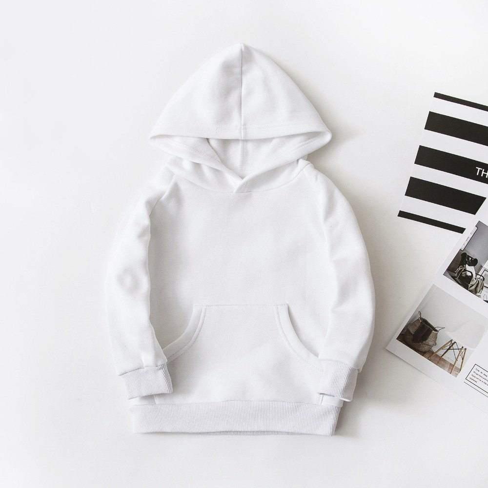 White Color Cotton + Spandex Full Sleeve & Thick Warm Hoodies