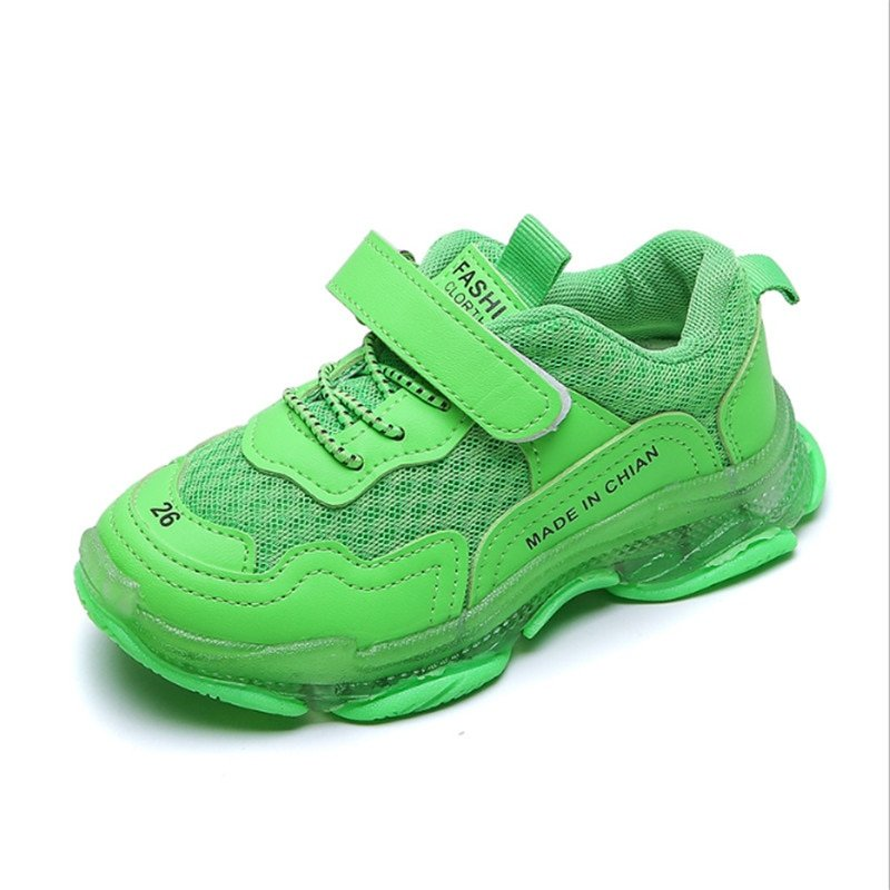 Candy Colors Air mesh + Cotton Lining & Hook-Loop Sneakers with Breathable