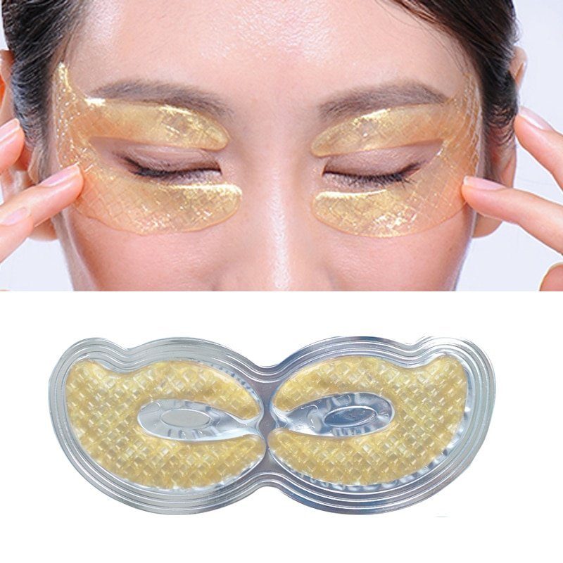 6pcs 3pair Gold Crystal Collagen Eye Mask Eye Patches Moisturizing Face Care