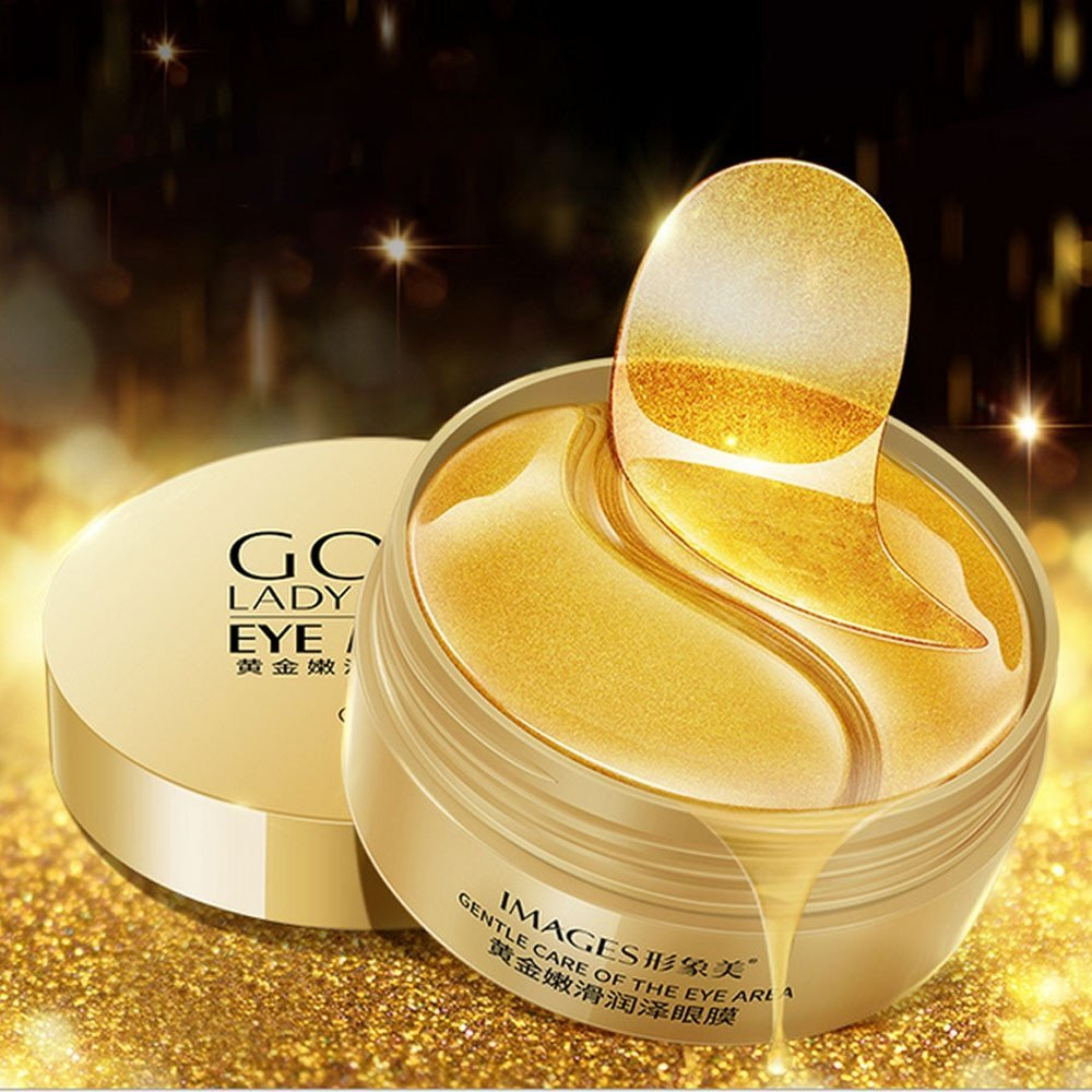 Collagen Eye Mask 60pcs=30pairs Moisturizing Gold Gel Masks Hydrogel Eye Patches Anti-Aging Anti-Puffiness Skin Care Patch