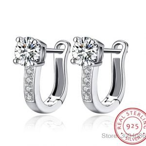 LEKANI 925 Sterling Silver Earrings Anniversary Channel Eternity Earrings New Fine Jewelry 1