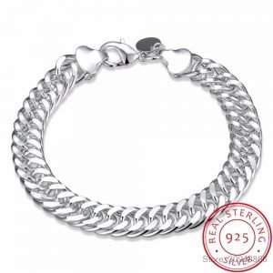 LEKANI Men's Jewelry 10mm Wide 8'' Bracelet 925 Sterling Silver 1